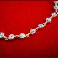 NC30, Daphne Handmade Golden Zircon Necklace for Women Xmas Gift-closer view