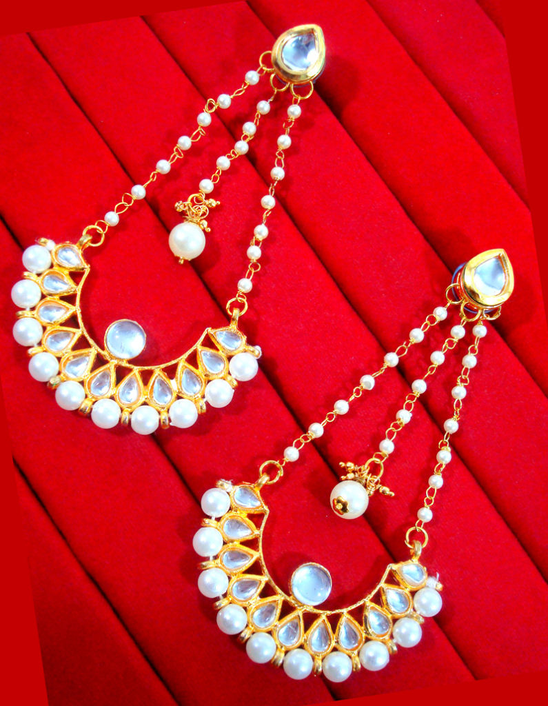 HC33E, Daphne Gorgeous Kundan Carving Earrings For Women, Best Gift For New Year-1