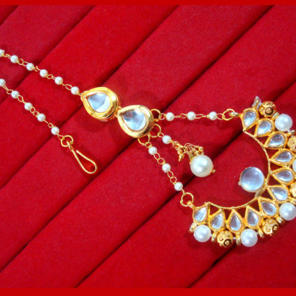 HC34M, Daphne Gorgeous Kundan & Pearls Earring For Women