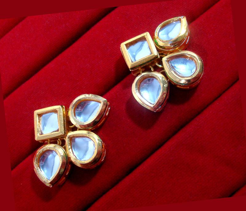 KC12, Daphne Ethnic Kundan Carving Earrings With Maang Tikka For Women-1