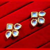 KC12E Daphne Ethnic Kundan Carving Earring For Wedding Special For Women