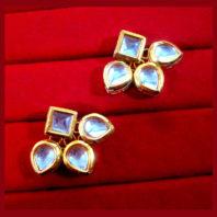 KC13,Daphne Gold Tone Kundan Stone Women Maang Tikka Earring Set For Women -3