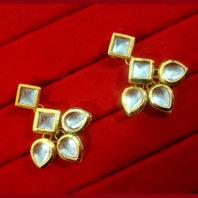KC16, Daphne Pretty Kundan Carving Maang Tikka With Earrings Set, Best Gift For Women-1