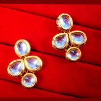 KC17, Daphne Ravishing Kundan Carving Earrings For Women