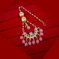 KC20 Classic Style Kundan Onyx Carving Earrings Maang Tikka
