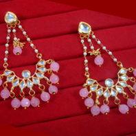 KC20 Classic Style Kundan Onyx Carving Earrings Set For Women