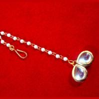 MAG73, Small Stylish Kundan Pearls Maang Tikka , Best Gift For Women -3