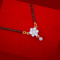 ME42 Bollywood Actress Anika Style Floral Zircon Studded Mangalsutra For Women