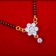 ME42 Bollywood Actress Anika Style Floral Zircon Studded Mangalsutra For Women-2