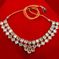NC93 Bridal Kundan Necklace Set For Full view Wedding