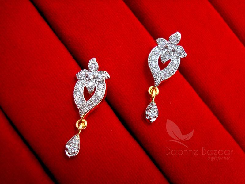 Ms13e daphne zircon studded designer earrings for women wedding ms13e daphne zircon studded designer earrings for women wedding jewelry gift for wife negle Gallery