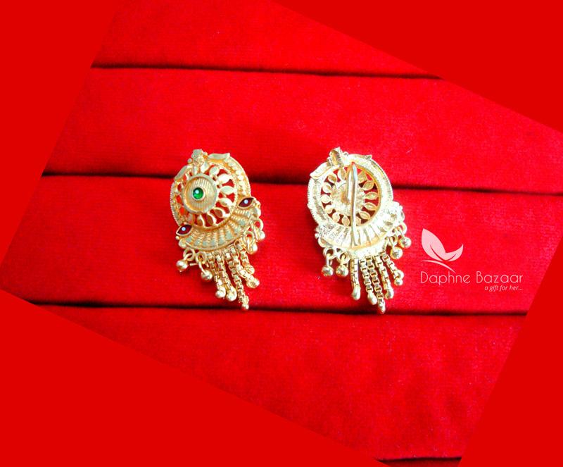 E66, Daphne Golden Art Earring, Beautiful Gift for Women